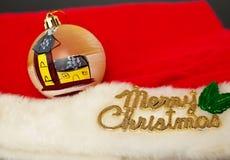 Decoración de la Feliz Navidad Imagen de archivo libre de regalías