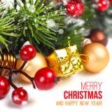 Decoración de la Feliz Navidad Fotos de archivo