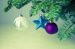 Decoración de la Feliz Navidad Fotografía de archivo libre de regalías