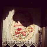 Decoración de la Feliz Navidad del vintage Imagen de archivo libre de regalías