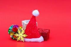 decoración de la Feliz Navidad y de la Feliz Año Nuevo para el modelo y los vagos Imagenes de archivo