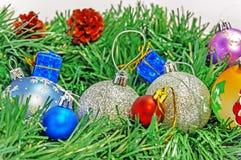 Decoración de la Feliz Navidad y de la postal del saludo de la Feliz Año Nuevo Imagen de archivo