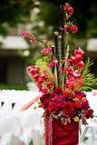 Decoración de la flor de la ceremonia de boda Imagen de archivo libre de regalías