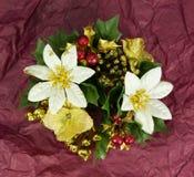 Decoración de la flor de la Navidad Fotos de archivo libres de regalías