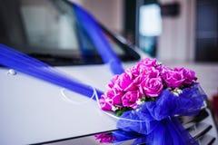 Decoración de la flor en el coche Fotografía de archivo