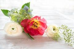 Decoración de la flor en estilo del vintage Foto de archivo