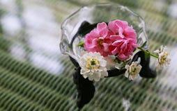 Decoración de la flor en la tabla Fotografía de archivo