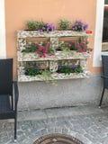 Decoración de la flor en plataforma euro Fotos de archivo libres de regalías