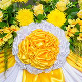 Decoración de la flor y de las telas Fotos de archivo libres de regalías