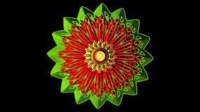 Decoración de la floración de la flor 3d stock de ilustración