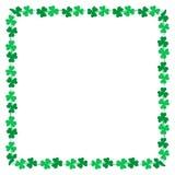 Decoración de la frontera de la bandera de Lucky Leaf Fotos de archivo libres de regalías