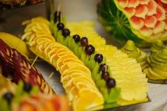 Decoración de la fruta Imagenes de archivo