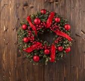 Decoración de la guirnalda de Advent Christmas Foto de archivo libre de regalías