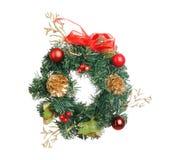 Decoración de la guirnalda de la Navidad Fotografía de archivo libre de regalías