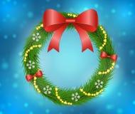 Decoración de la guirnalda de la Navidad ilustración del vector