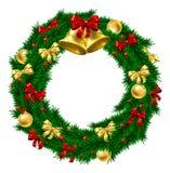 Decoración de la guirnalda de la Navidad Foto de archivo