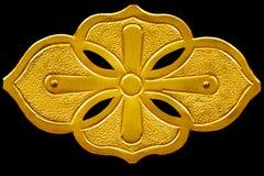 Decoración de la hoja del oro en el soporte de Buda Imágenes de archivo libres de regalías