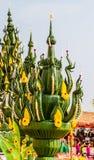Decoración de la hoja del plátano Imagen de archivo