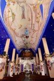 Decoración de la iglesia de Crucecita Imagen de archivo libre de regalías