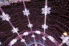 Decoración de la iluminación del Año Nuevo y de la Navidad de la ciudad -- El túnel ligero en el bulevar de Tverskoy, Rusia Fotos de archivo libres de regalías