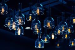 Decoración de la iluminación interior fotografía de archivo libre de regalías