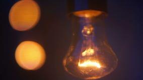 Decoración de la lámpara de la noche metrajes