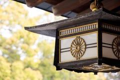Decoración de la lámpara de Meiji Shrine Imagen de archivo