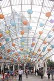 Decoración de la linterna de la arquitectura en el ¼ ŒAsia de Œchinaï del ¼ del shenzhenï Fotos de archivo libres de regalías