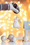 Decoración de la magia de la Navidad Fotos de archivo