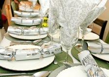 Decoración de la mesa de comedor del día de fiesta Imagenes de archivo