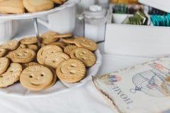 Decoración de la mesa de desayuno Fotos de archivo libres de regalías