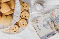 Decoración de la mesa de desayuno Fotografía de archivo libre de regalías