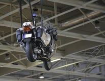 Decoración de la motocicleta de la policía en el cielo Foto de archivo libre de regalías
