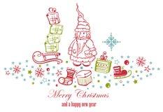 Decoración de la Navidad Foto de archivo libre de regalías