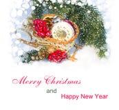 Decoración 2015 de la Navidad Fotografía de archivo libre de regalías