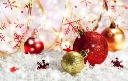 Decoración de la Navidad Año Nuevo Imagenes de archivo