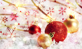 Decoración de la Navidad Año Nuevo Fotografía de archivo libre de regalías