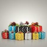 Decoración de la Navidad. Años Nuevos de regalos Fotografía de archivo