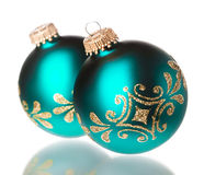 Decoración de la Navidad aislada Imagen de archivo