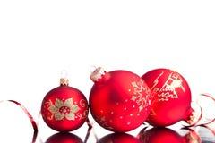 Decoración de la Navidad aislada Fotografía de archivo