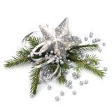 Decoración de la Navidad aislada en el fondo blanco Fotografía de archivo libre de regalías