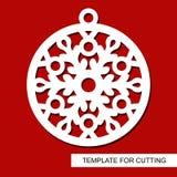 Decoración de la Navidad - bola del cordón con el copo de nieve libre illustration