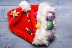 Decoración de la Navidad colorida o del Año Nuevo Imágenes de archivo libres de regalías