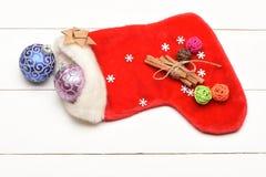 Decoración de la Navidad colorida o del Año Nuevo Foto de archivo libre de regalías