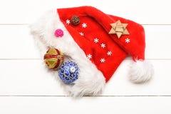 Decoración de la Navidad colorida o del Año Nuevo Fotografía de archivo