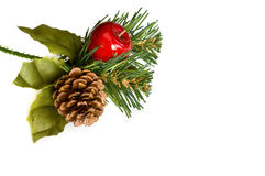 Decoración de la Navidad con el espacio de la copia Imagenes de archivo