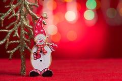 Decoración de la Navidad con el espacio de la copia Imágenes de archivo libres de regalías