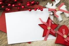 Decoración de la Navidad con el espacio para el texto Foto de archivo libre de regalías