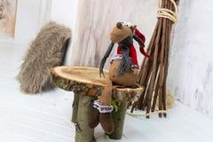 Decoración de la Navidad con el juguete de los alces Fotos de archivo libres de regalías