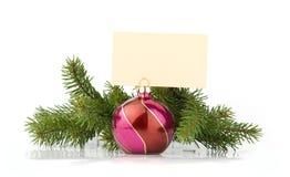 Decoración de la Navidad con el lugar para su texto Foto de archivo